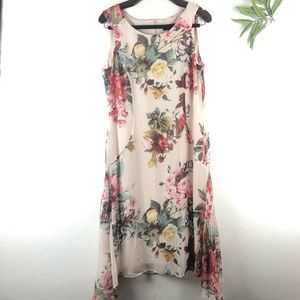 Connected Apparel Sleeveless Floral Dress Size 10